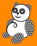 Panda curl decorative Royalty Free Stock Photography