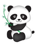 Panda. Cute black and white chinese panda bear illustration isolated on white background Royalty Free Stock Image