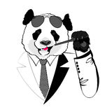 Panda d'affaires Image stock