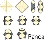 Panda d'origami illustration stock