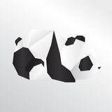 Panda d'origami illustration stock
