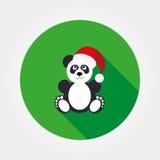 Panda dans le chapeau de Santa Image stock