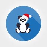 Panda dans le chapeau de Santa Photo stock