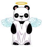 Panda dans le costume d'ange illustration de vecteur