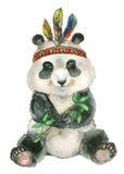 Panda de assento da aquarela Imagens de Stock Royalty Free