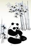Panda de bambú stock de ilustración