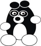 Panda de dessin animé Photographie stock