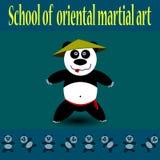 Panda de fu de Kung Images libres de droits