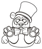 Panda de gentlman de coloration illustration stock