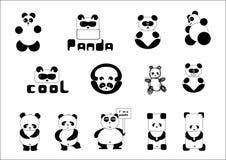 Panda de la historieta Fotos de archivo libres de regalías
