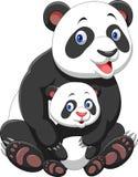 Panda de la madre y del bebé libre illustration