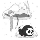 Panda de la muchacha de la noche Fotos de archivo