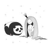 Panda de la princesa de la noche Imagen de archivo libre de regalías