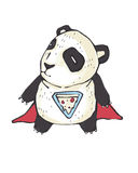 Panda de pizza Photos libres de droits