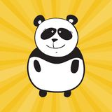 Panda de sourire de vecteur Photographie stock
