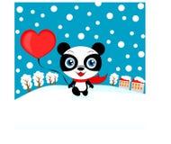 Panda de Valentine Photographie stock
