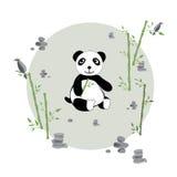 Panda in de weide vector illustratie