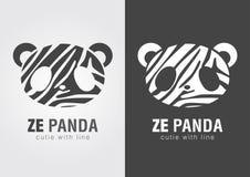 Panda de Ze une combinaison parfaite de zèbre et de panda Image libre de droits
