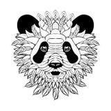 Panda decorato di Zentangle Illustrazione Vettoriale