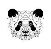 Panda decorato di Zentangle Illustrazione di vettore di schizzo del tatuaggio isola Royalty Illustrazione gratis