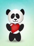 Panda del amor Fotos de archivo