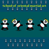 Panda del fu de Kung Imagen de archivo
