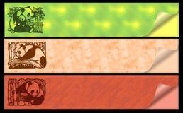Panda della bandiera di Web illustrazione vettoriale