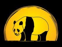 Panda, der Seitenansicht steht Lizenzfreie Stockbilder