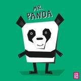 Panda di angolo illustrazione vettoriale