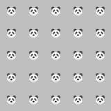 Panda di Cutie con fondo grigio Fondo delle mattonelle illustrazione di stock