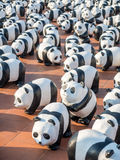 Panda di giro 1600 del mondo a Bangkok Fotografie Stock