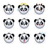 Panda di smiley Fotografie Stock Libere da Diritti