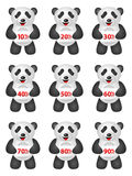Panda discount Royalty Free Stock Photos