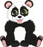 Panda divertente sveglio del bambino Fotografie Stock Libere da Diritti