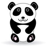 Panda divertida en un fondo blanco Imágenes de archivo libres de regalías