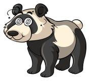 Panda with dizzy eyes Stock Photography