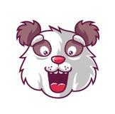 Panda do divertimento do focinho que ? surpreendida agradavelmente ilustração stock