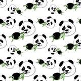 Panda do teste padrão ilustração do vetor