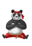Panda does the splits in red pants Royalty Free Stock Photos