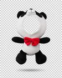 Panda dolls isolated on transparent layer background. Blank animal face for design. Clipping paths object. Panda dolls isolated on transparent layer background royalty free stock image