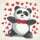 Panda doodle Royalty Free Stock Image