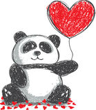 Panda doodle Royalty Free Stock Images