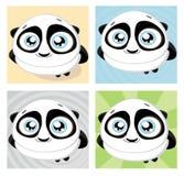 Panda dos desenhos animados. Vetor Imagens de Stock