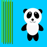Panda. Drawing a cartoon panda concept Royalty Free Illustration