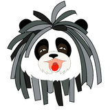Panda with dreadlocks. Rastafarianism - a new religious movement that led to the formation of the musical style of reggae in the 1960s. His supporters called the Royalty Free Stock Image