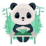 Panda eating rice Stock Image