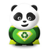Panda Eco Superheld Stockfoto