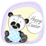 Panda with egg Royalty Free Stock Images