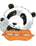 Panda el dormir de la historieta Imagen de archivo