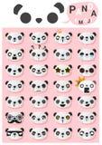 Panda emoji icons Stock Images